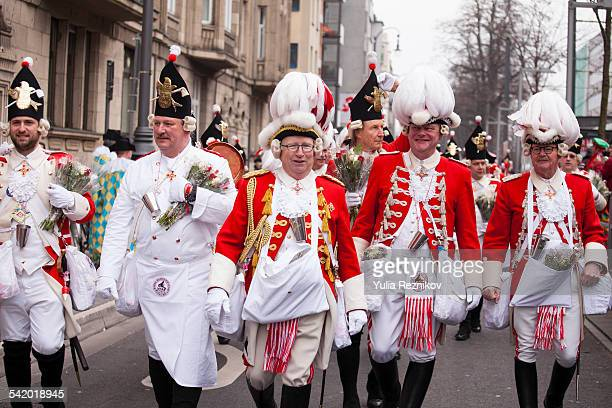 Carnival in Cologne Rosenmontag Parade The 2015 year's motto 'social jeck kunterbunt vernetzt' 2015