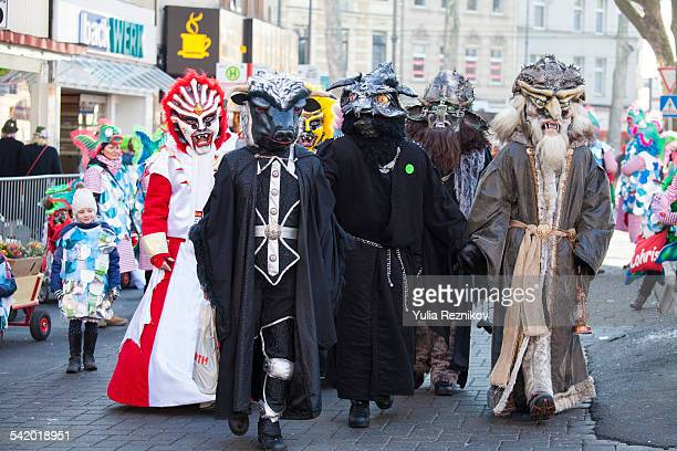 Cologne NRW Germany February 15 2015 Carnival in Cologne School Groups Parade at Sunday Schull un Veedelszoech 2015