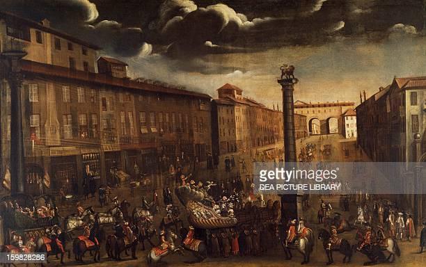 Carnival in Corso Venezia in Milan unknown author Italy 17th century Milan Civico Museo Di Milano