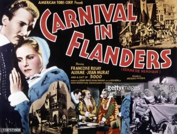 Carnival In Flanders poster left Bernard Lancret Micheline Cheirel center from left Alfred Adam Francoise Rosay Jean Murat Alexander D'Arcy bottom...
