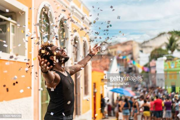 carnival in olinda - brazilian carnival stock pictures, royalty-free photos & images
