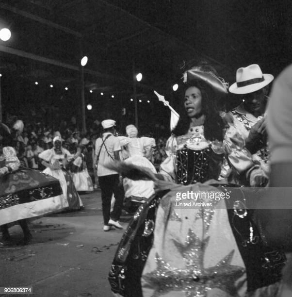 Carnival in Rio de Janairo Brazil 1966