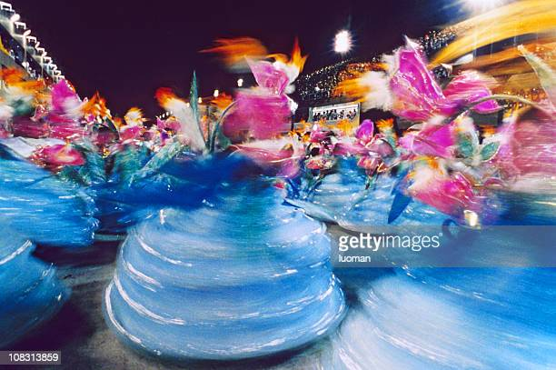 carnival in rio de janeiro - baianas - parade stock pictures, royalty-free photos & images