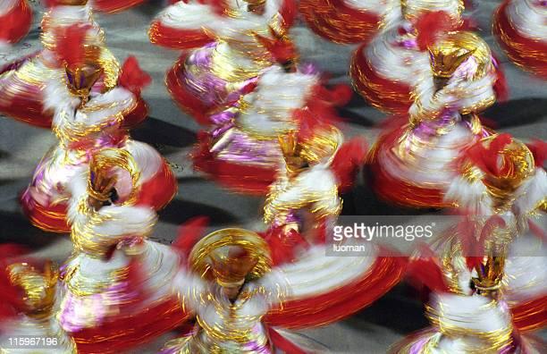carnaval no rio de janeiro-baianas - avenida - fotografias e filmes do acervo