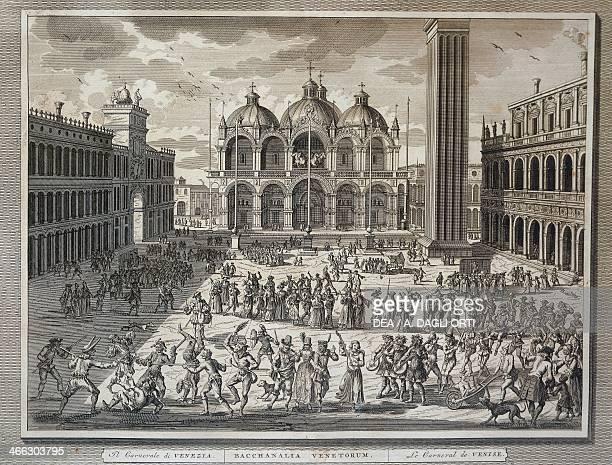 Carnival in St Mark's Square in Venice 1757 Italy 18th century