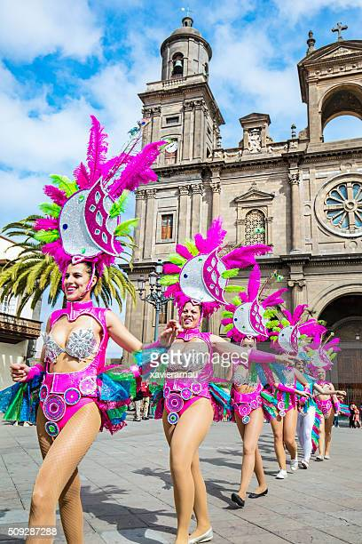 carnival in the canary island - las palmas de gran canaria stock pictures, royalty-free photos & images