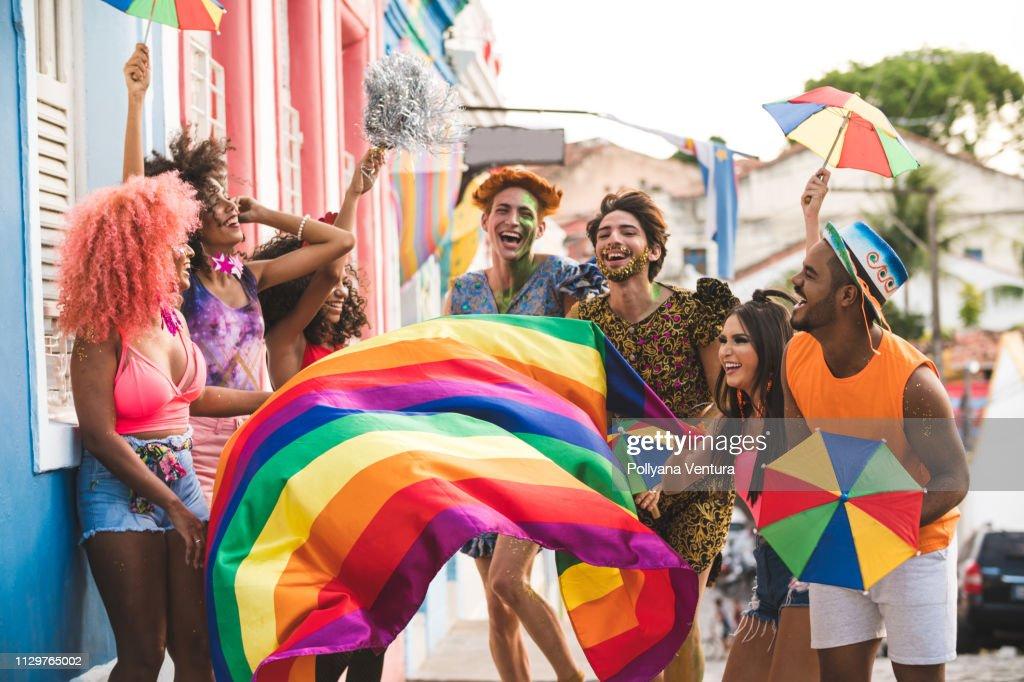 オリンダの有名な通りのカーニバル : ストックフォト