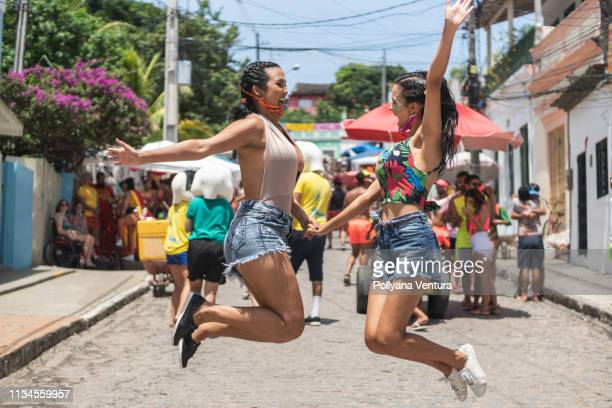 carnival in the streets of olinda - traveling carnival stock pictures, royalty-free photos & images