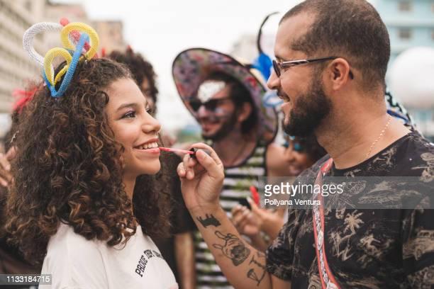 carnival makeup - frevo imagens e fotografias de stock