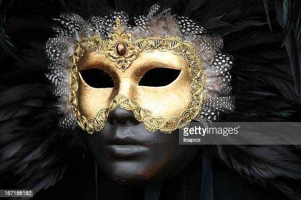 Carnival mask: golden black beauty