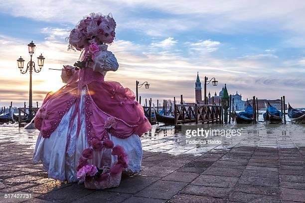 carnival mask in venice - carnaval de veneza imagens e fotografias de stock
