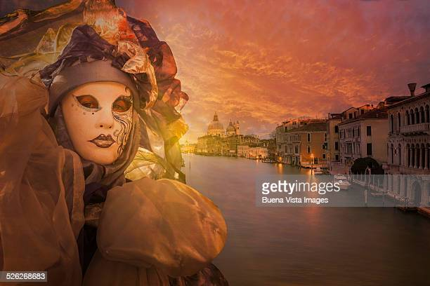 Carnival Mask over the Grand Canal