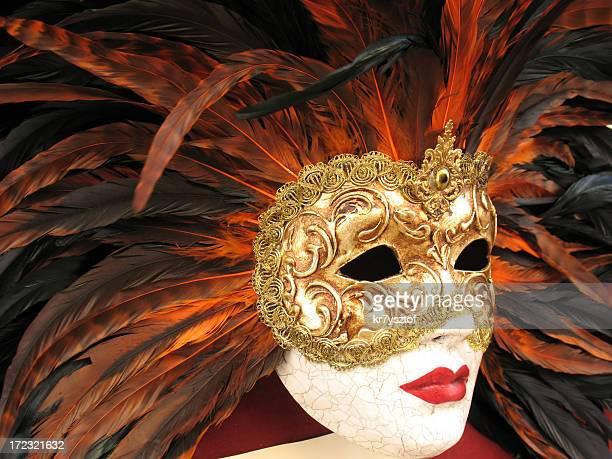 maschera di carnevale - maschere veneziane foto e immagini stock