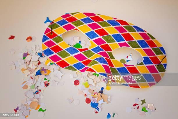 carnival mask - arlecchino foto e immagini stock