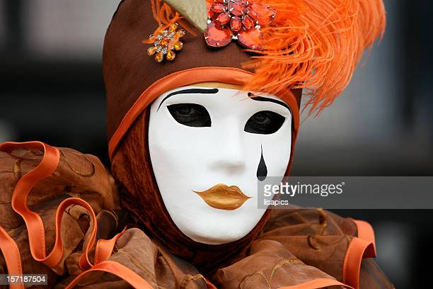 Carnival mask: this single tear