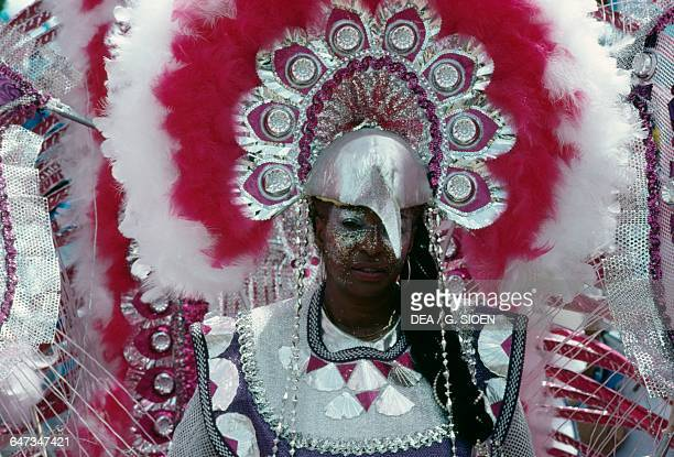 Carnival mask with a beak PortofSpain Trinidad and Tobago