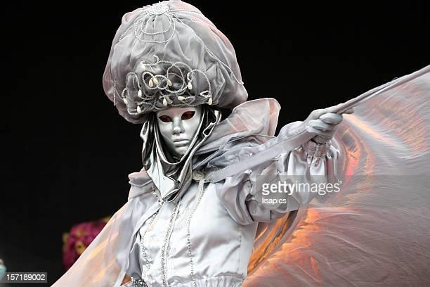 Karneval Maske: magic Silber