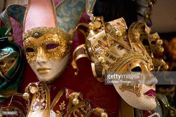 carnival masks in venice - maschere veneziane foto e immagini stock