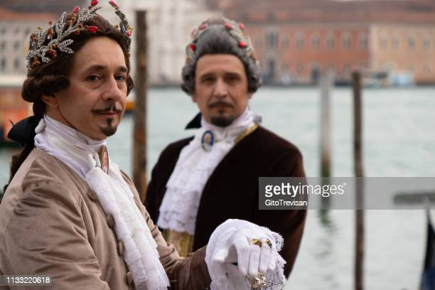carnival masks of venice - lacemaking stock pictures, royalty-free photos & images