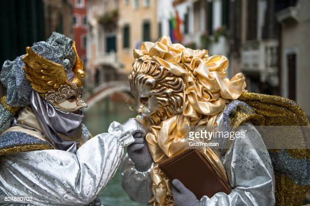 carnival masks of venice - traditional clothing stock photos and pictures