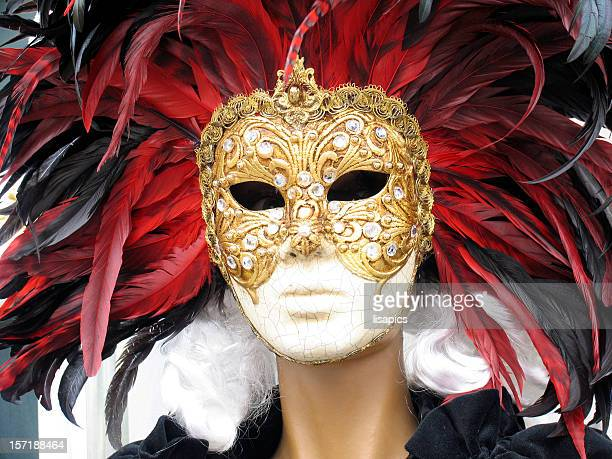 carnival mask:witch - dolly golden stock pictures, royalty-free photos & images