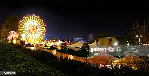 carnival night - fun house stock pictures, royalty-free photos & images