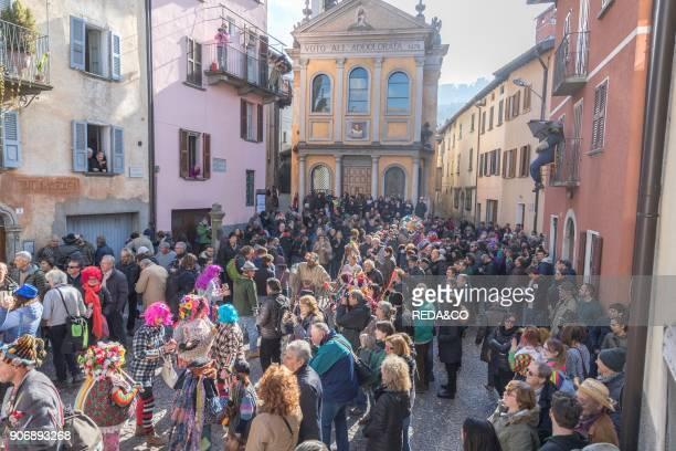 Carnival of Schignano Village Como Lake Lombardia Italy Europe