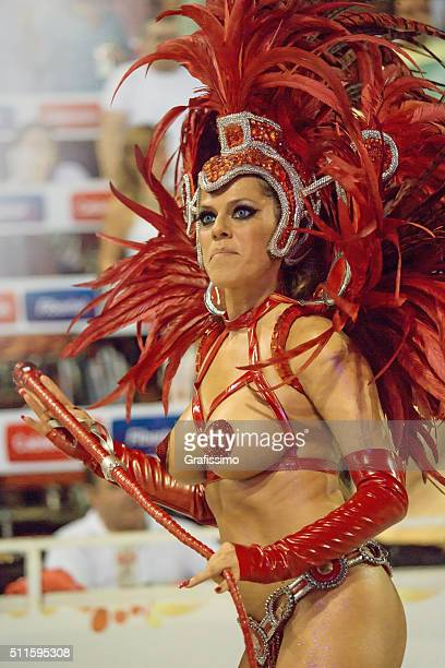 carnival samba in argentina gualeguaychu - headdress stock pictures, royalty-free photos & images