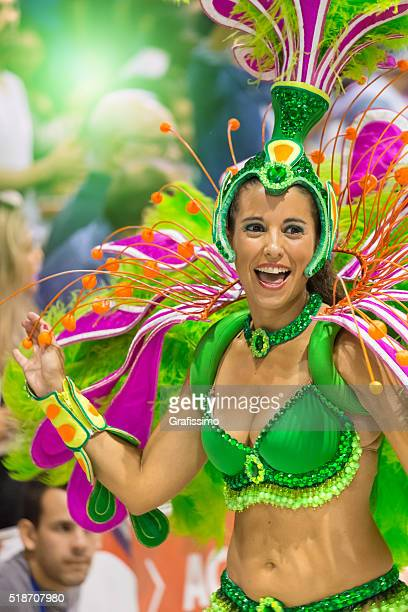 carnival samba in argentina gualeguaychu - argentina traditional clothing stock photos and pictures