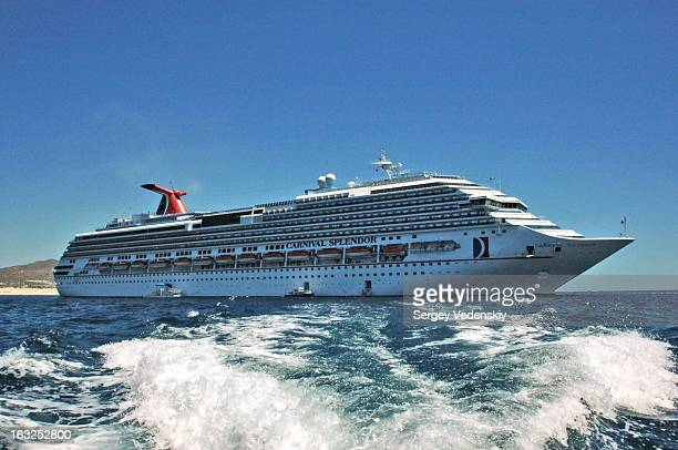 Carnival Splendor anchored in Cabo San Lucas Bay, Mexico