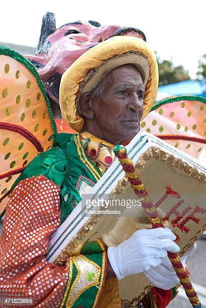 carnival storyteller - port of spain stock photos and pictures