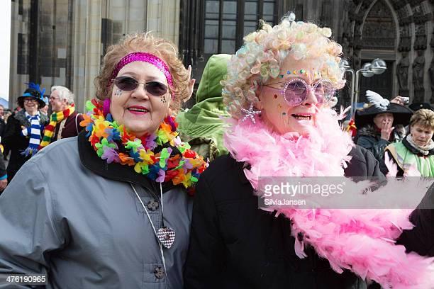 carnival Weiberfastnacht celebration senior women