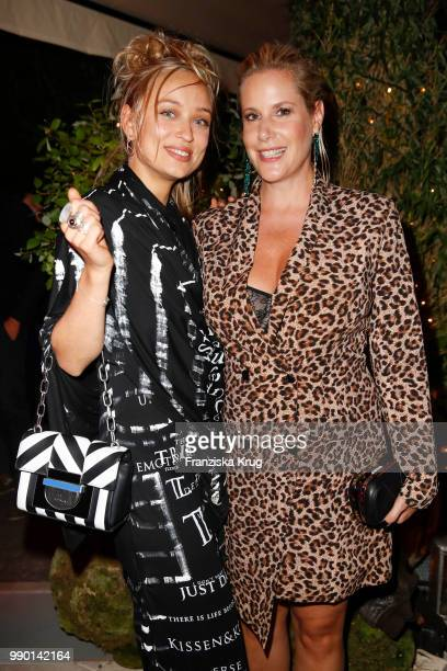 Caro Cult and Anika Decker during the Bunte New Faces Night at Grace Hotel Zoo on July 2 2018 in Berlin Germany