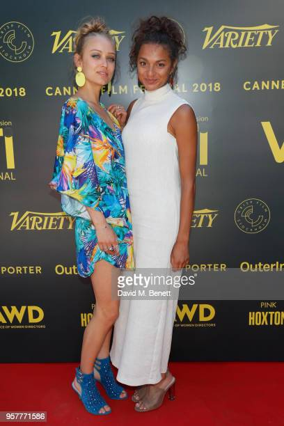 Caro Cult and Taneshia Abt attend as WIFT International with Variety Alliance of Women Directors host a cocktail party during the 71st Cannes Film...