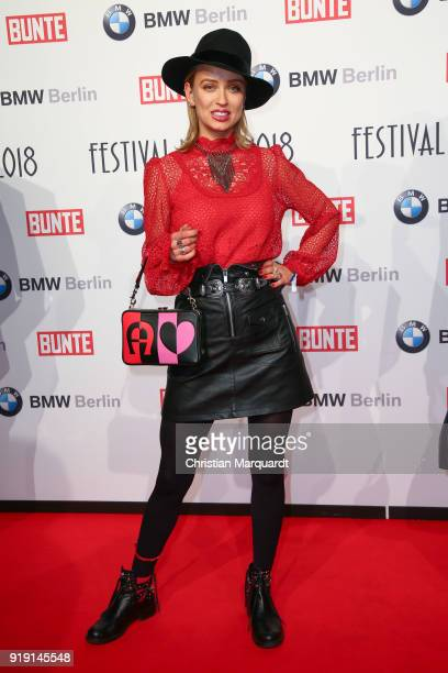 Caro Cult attends the BUNTE BMW Festival Night on the occasion of the 68th Berlinale International Film Festival Berlin at Restaurant Gendarmerie on...
