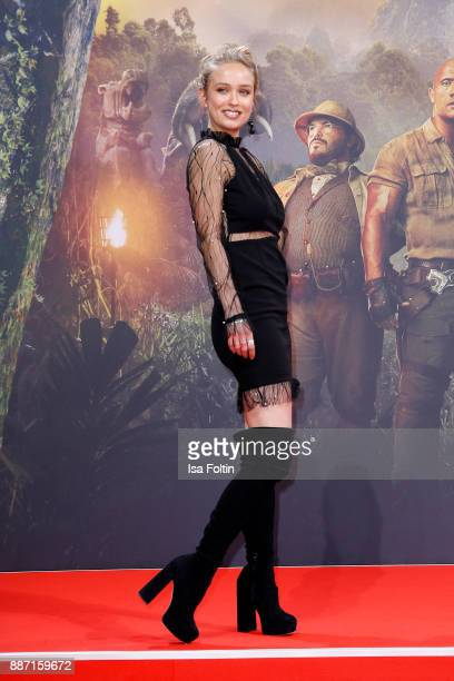 Caro Cult attends the German premiere of 'Jumanji Willkommen im Dschungel' at Sony Centre on December 6 2017 in Berlin Germany