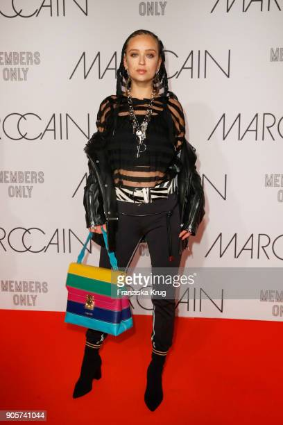 Caro Cult during the Marc Cain Fashion Show Berlin Autumn/Winter 2018 at metro station Potsdamer Platz on January 16 2018 in Berlin Germany