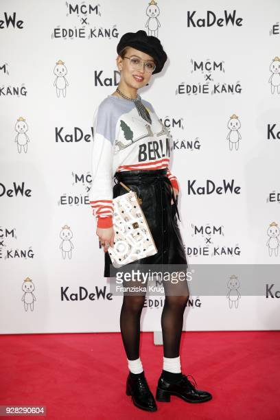 Caro Cult during the MCM X Eddie Kang launch event at KaDeWe on March 6 2018 in Berlin Germany