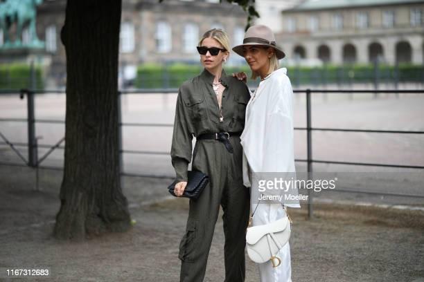 Caro Daur and Aylin Koenig wearing Lala Berlin on August 08 2019 in Copenhagen Denmark