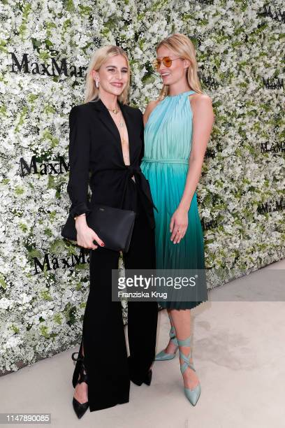 Caro Daur and Charlott Cordes during the Max Mara Resort 2020 Fashion Show at Neues Museum on June 3 2019 in Berlin Germany