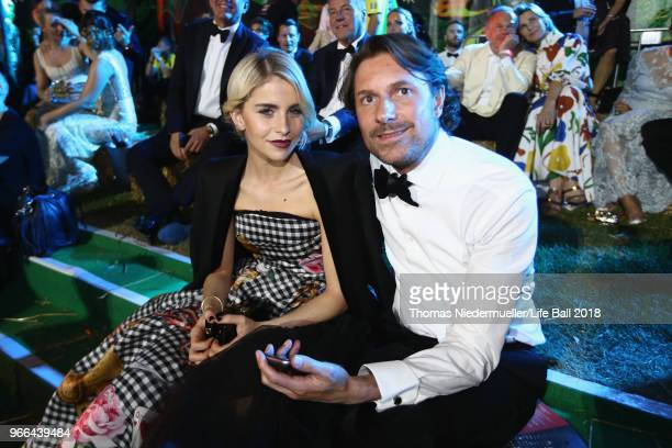 Caro Daur and Diederik Koenders are seen during the Life Ball 2018 show at City Hall on June 2 2018 in Vienna Austria The Life Ball an annual charity...