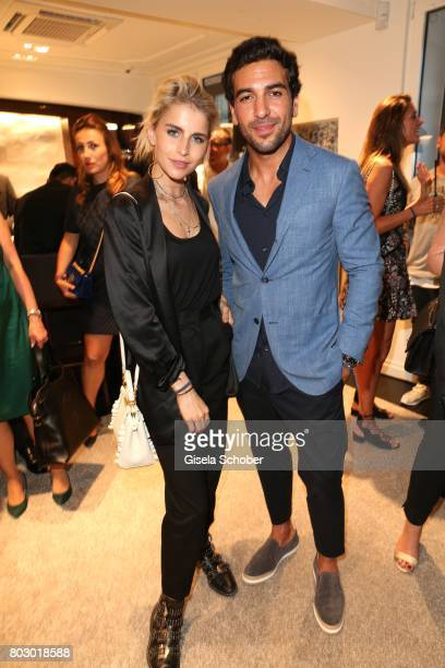 Caro Daur and Elyas M'Barek attend the exclusive grand opening event of the new IWC Schaffhausen Boutique in Munich on June 28 2017 in Munich Germany