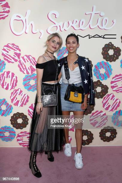Caro Daur and Gizem Emre during the MAC Cosmetics X Caro Daur 'Oh Sweetie' Collection Launch in Berlin at Hotel Zoo on June 4 2018 in Berlin Germany