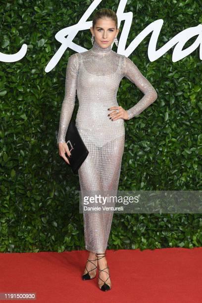 Caro Daur arrives at The Fashion Awards 2019 held at Royal Albert Hall on December 02 2019 in London England