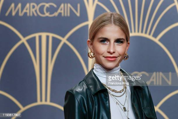 Caro Daur arrives at the Marc Cain show during Berlin Fashion Week Autumn/Winter 2020 at Deutsche Telekom's representative office on January 14 2020...