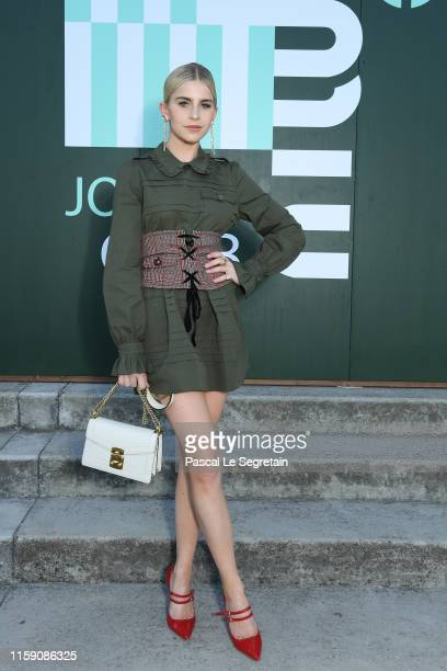 Caro Daur attends miu miu club event at Hippodrome d'Auteuil on June 29 2019 in Paris France