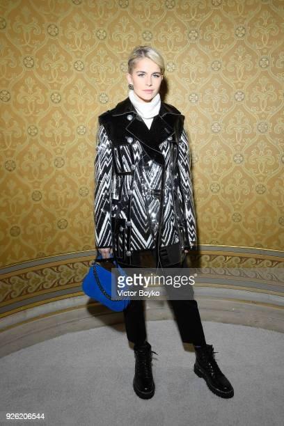 Caro Daur attends the Balmain show as part of the Paris Fashion Week Womenswear Fall/Winter 2018/2019 on March 2 2018 in Paris France