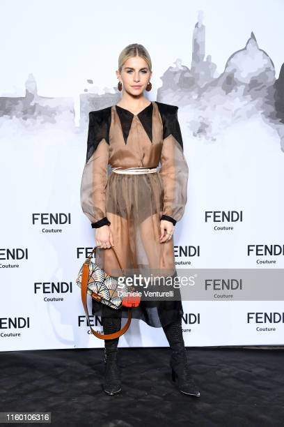 Caro Daur attends the Cocktail at Fendi Couture Fall Winter 2019/2020 on July 04 2019 in Rome Italy