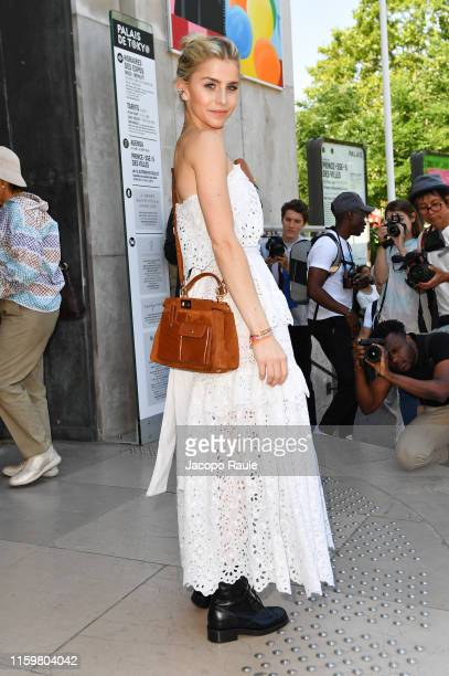Caro Daur attends the Elie Saab Haute Couture Fall/Winter 2019 2020 show as part of Paris Fashion Week on July 03, 2019 in Paris, France.