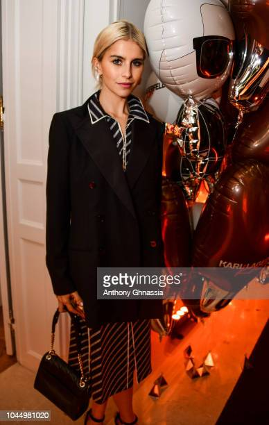 Caro Daur attends the launch of the Karl x Kaia collaboration capsule collection on October 2 2018 in Paris France